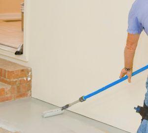 Painting garage floor